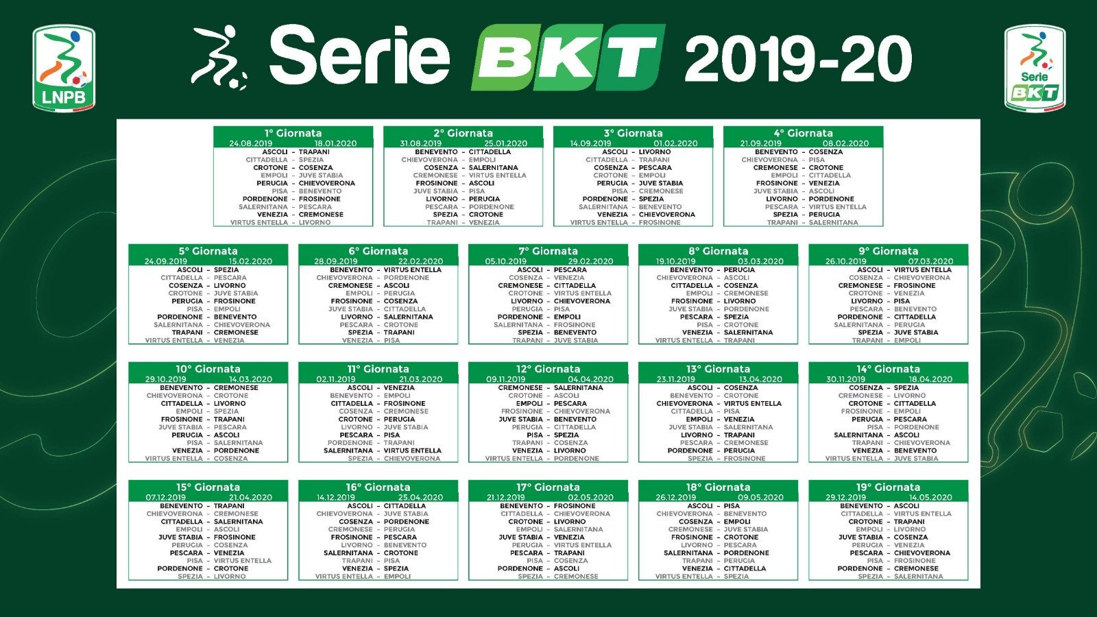 Calendario Iuve.Ss Juve Stabia Calendario Serie Bkt 2019 20 Ss Juve Stabia