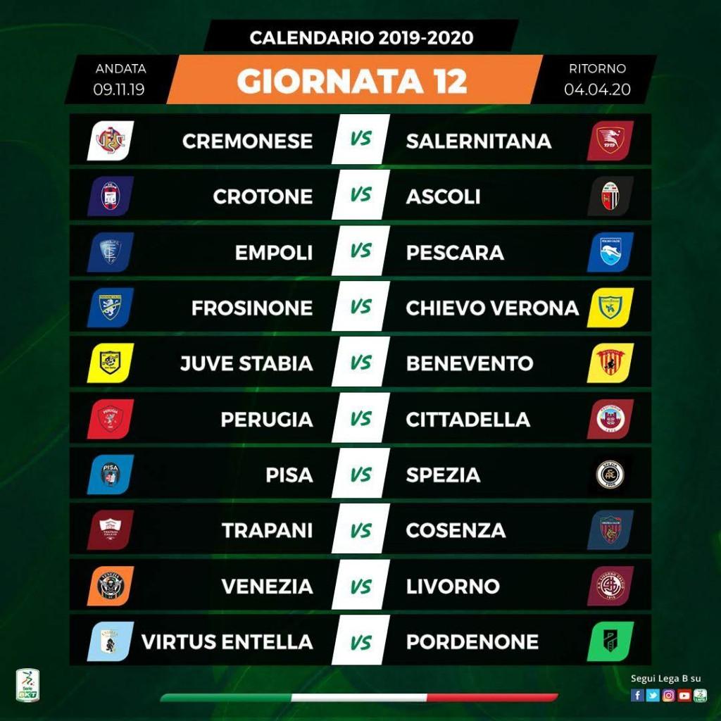 Calendario Serie A 12 Giornata.Ss Juve Stabia Calendario Serie Bkt 2019 20 Ss Juve Stabia