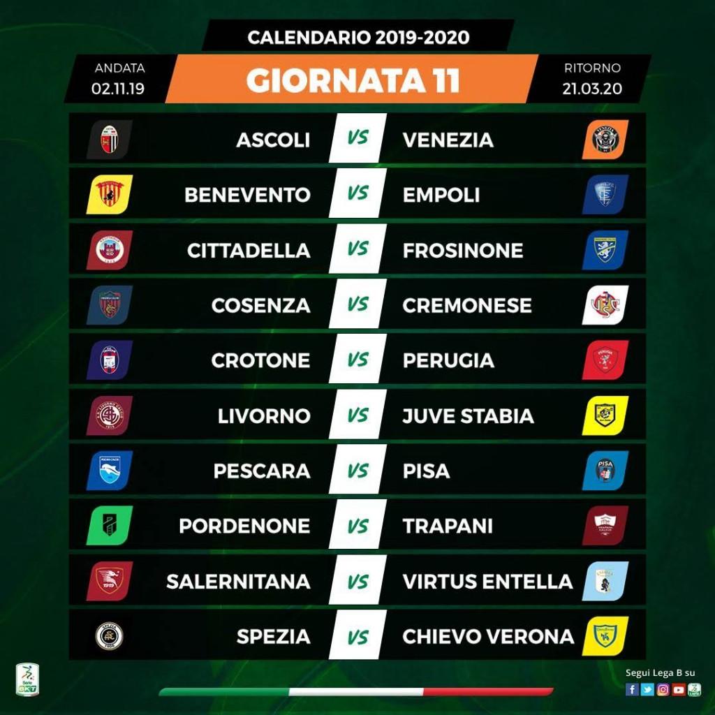 Calendario Serie A 11 Giornata.Ss Juve Stabia Calendario Serie Bkt 2019 20 Ss Juve Stabia