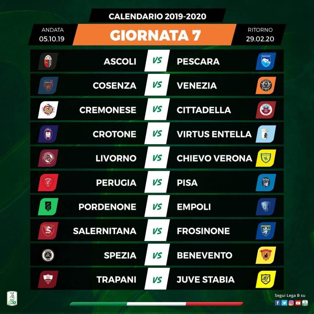 Serie A Calendario 7 Giornata.Ss Juve Stabia Calendario Serie Bkt 2019 20 Ss Juve Stabia