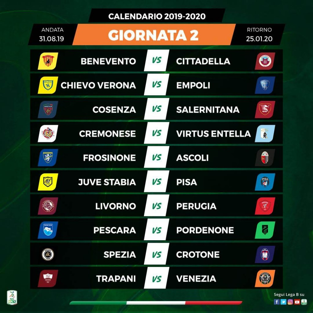 Campionato Serie A Calendario Partite.Ss Juve Stabia Calendario Serie Bkt 2019 20 Ss Juve Stabia