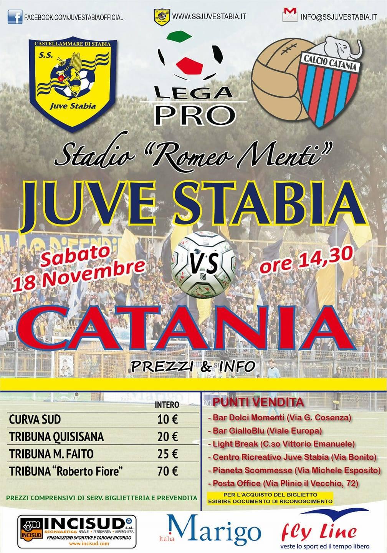 Juve Stabia-Catania locandina